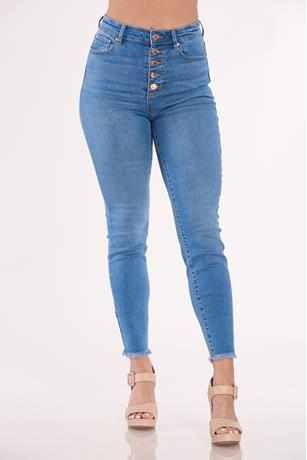 High Rise Skinny Jeans MED WASH