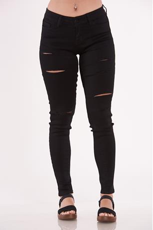 Basic Ripped Skinny Jeans