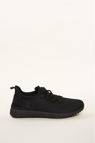 Mesh Low-Top Sneakers BLACK
