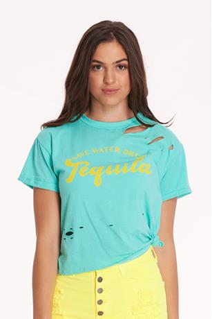 Distress Tequila Graphic Tee MINT