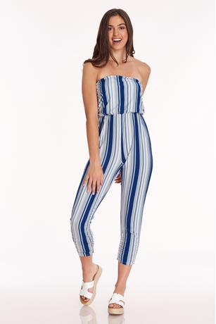 Ruched Tube Jumpsuit BLUE