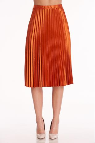 Pleated Midi Skirt RUST