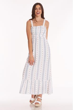 Printed Maxi Dress IVORY