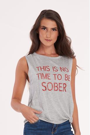 Sober Graphic Tee GRAY