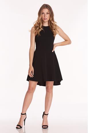 High Low Halter Dress BLACK