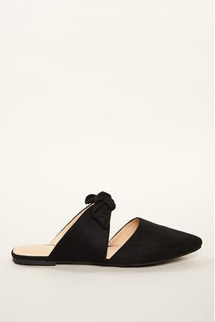 Bow Strap Flats BLACK