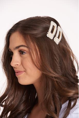 2PC Pearl Hair Barrette Clips ASSORTED