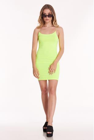 Bodycon Mini Dress NEON GREEN
