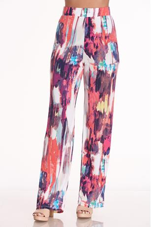 Printed High Rise Pants