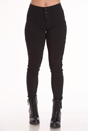 HIGH-WAIST JEGGINGS BLACK