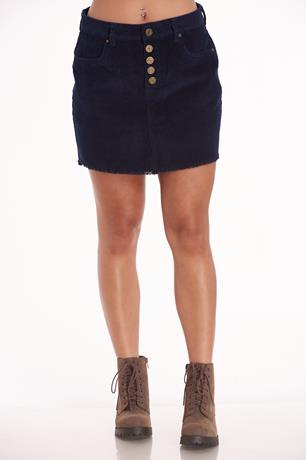 Navy Corduroy Mini Skirt NAVY