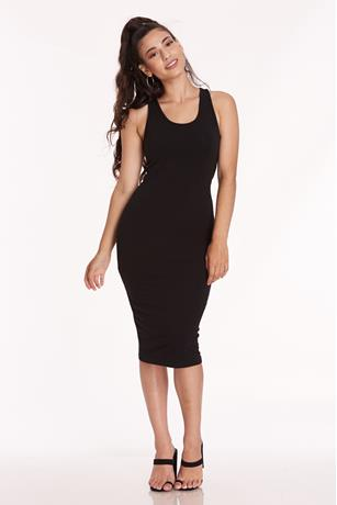 Racerback Tank Midi Dress BLACK