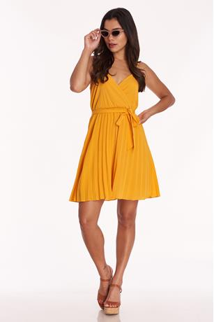 Pleated Tank Dress YELLOW