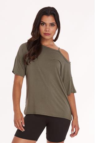 Cutout Tunic Top OLIVE