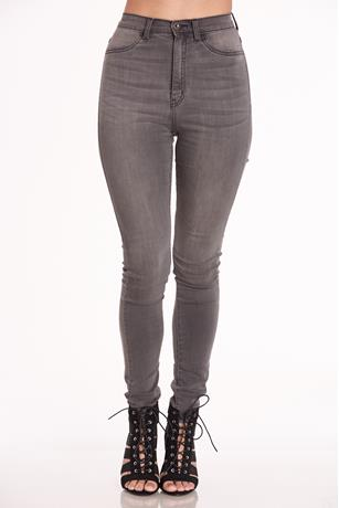 Aphrodite Highwaist Gray Jeans