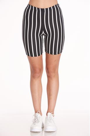 Stripe Bike Short BLKWHT