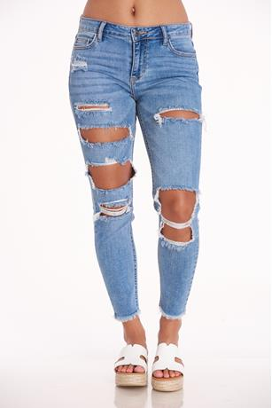 CELLO FLOODED HEM JEANS