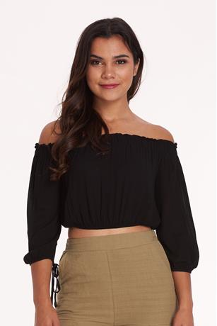 OFF SHOULDER TOP BLACK