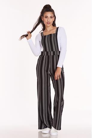 Striped Bib Front Overalls