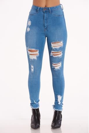 Aphrodite Highwaist Frayed Jeans