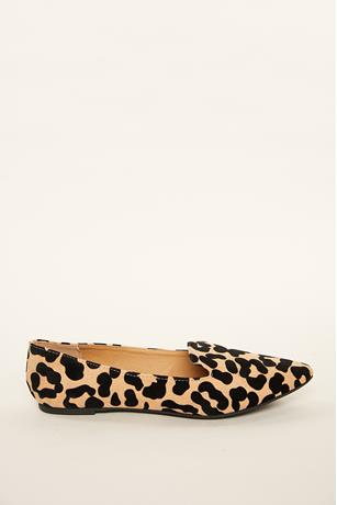Leopard Faux Suede Oxfords