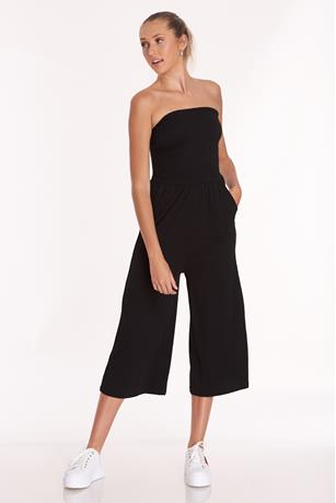 Tube Top Gauze Jumpsuit
