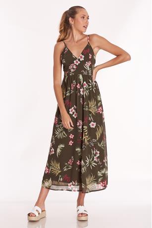 Printed Maxi Dress OLIVE