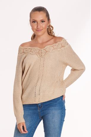 Lace Trim Knit Sweater
