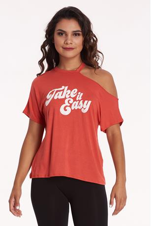 Easy Graphic Tee ORANGE