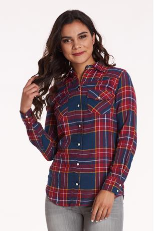 Plaid Flannel Shirt NAVY