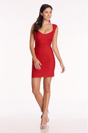 Bandage Mini Dress RED