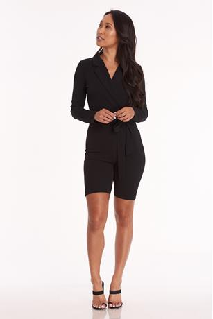 Blazer Bike Short Romper BLACK