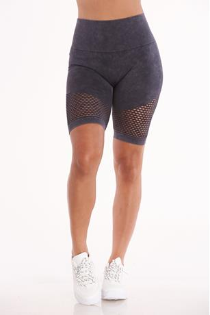 Fishnet Trim Bike Shorts