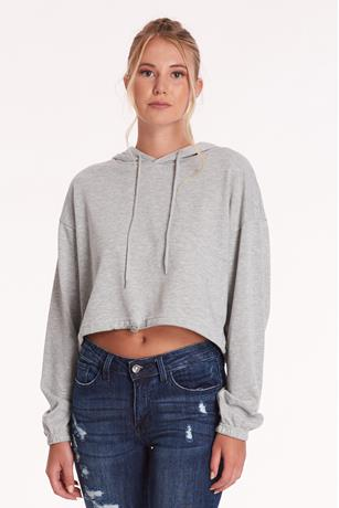 Active Cropped Hoodie GRAY