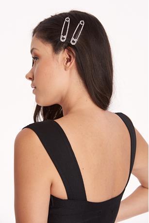 Safety Pin Snap Hair Clips