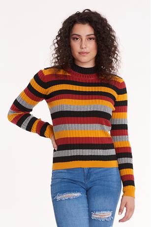 Striped Sweater BLACK