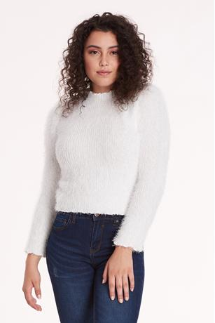 Mock Neck Sweater IVORY