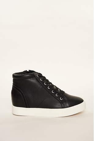 Low Top Wedge Sneakers BLACK