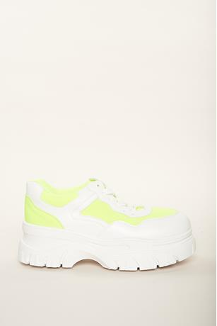 Low Top Platform Sneakers LIME GREEN