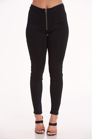 Celebrity Pink Ankle Skinny Jeggings BLACK