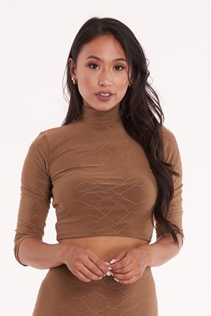Textured Crop Top