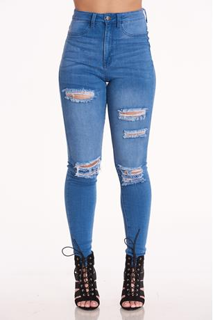 Aphrodite High Rise Skinny Jeans LIGHT WASH