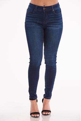 Enjean Basic Skinny Jeans DARK WASH