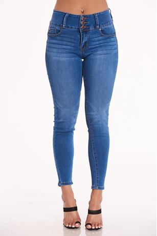 Enjean Button Up Jeans MED WASH