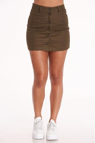 Button Up Skirt OLIVE