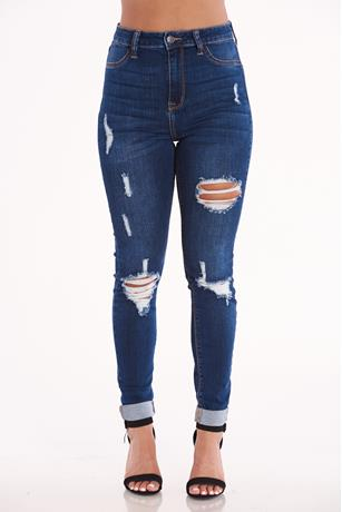 Cello High Rise Skinny Jeans DARK WASH
