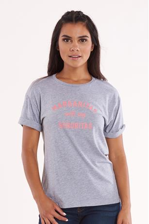 Margarita Graphic Top HEATHER