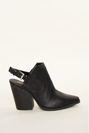 Open Back Booties BLACK