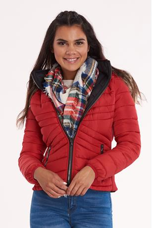 Reversible Puffer Jacket RED