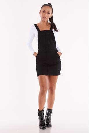 Overall Mini Dress BLACK